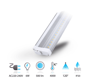 6w reglette led anti eblouissement  230V neutre